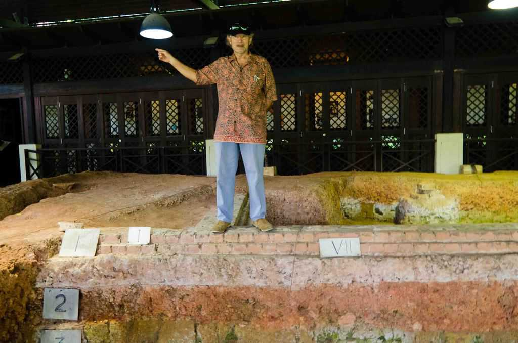 2012 photo of Prof. John Miksic at Fort Canning