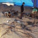 Tim Arkeologi Temukan Sisa Bangunan Kayu di Situs Liyangan