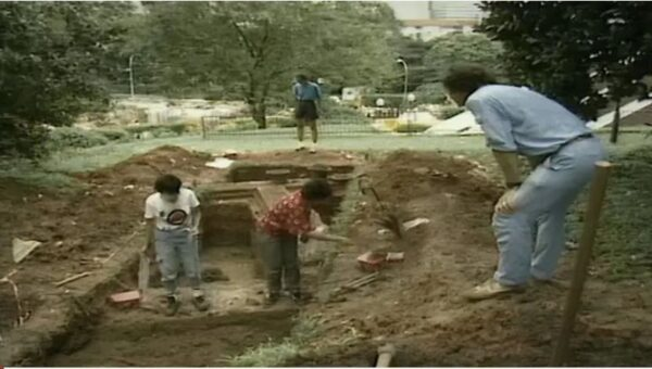 Excavations at Fort Canning. Source: Channel NewsAsia 20190203