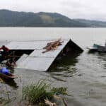 Floods in the Lake Sentani region, Papua. Source: Papua Bisnis, 20190321