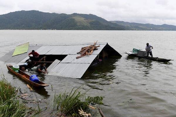Floods in the Lake Sentani region, Papua. Source: Papua Bisnis, 20190321