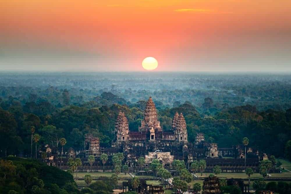Angkor Wat. Stock photo from Shutterstock/Intarapong