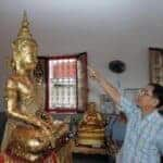 Buddha statue 'sweats' holy water