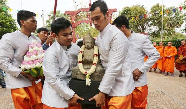 Repatriated medicine Buddha. Source: Khmer Times 20190404
