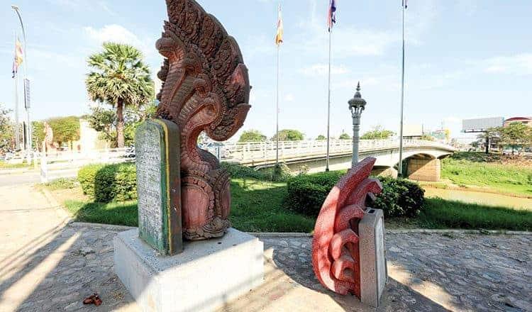 Ancient bridge at Battambang province. Source: Khmer Times, 20190423