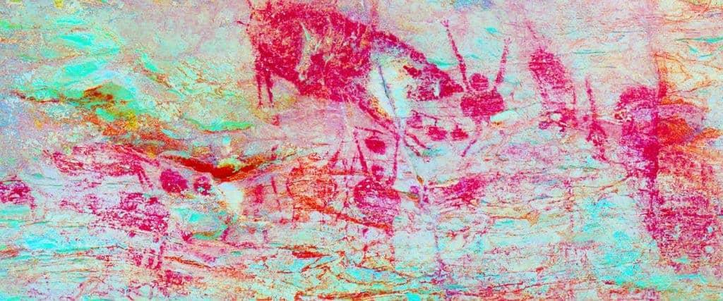 Gua Tambun Rock Art, enhanced by DStretch