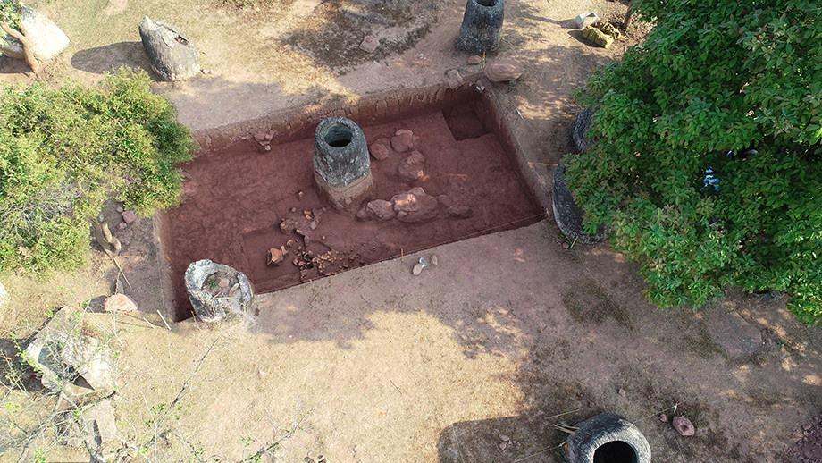 Excavation at the Plan of Jars. Source: ANU, 20190515