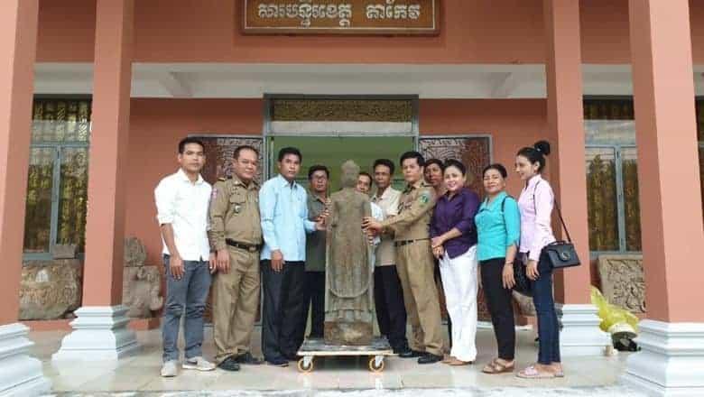 Phnom Da style Buddha image returned to Takeo. Source: Phnom Penh Post 20190611
