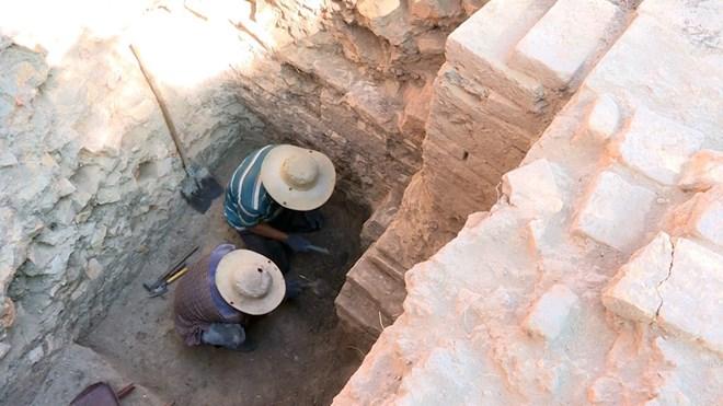 Cham Tower excavation in Phu Yen Province. Source: Vietnam+ 20190712
