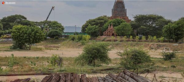 Construction of the Hilton Hotel in the Bagan Archaeological Zone. Source: The Irrawaddy 20190802