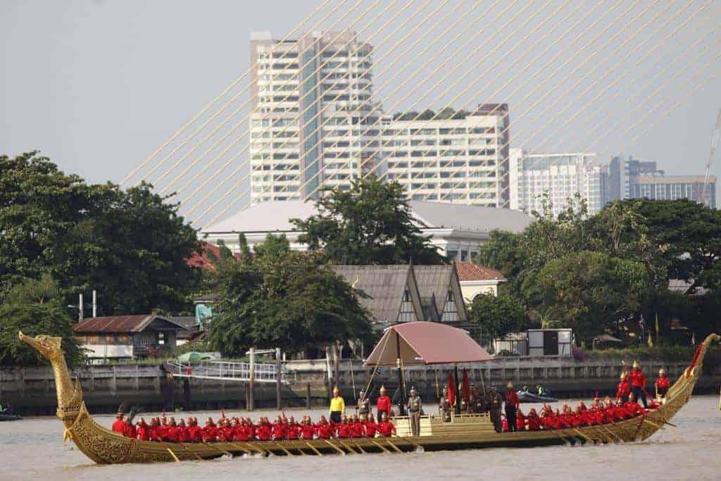 Royal Barge procession rehearsal. Source: Bangkok Post 20190922