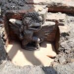 Rare Garuda statue unearthed in ancient East Java hot spring