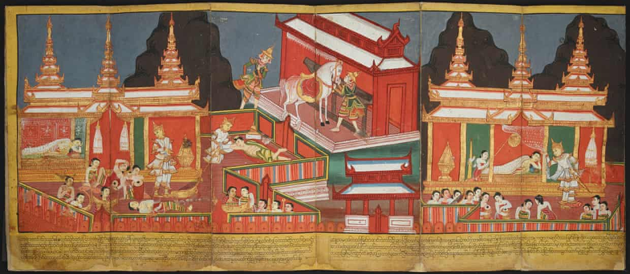 A 19th-century Burmese illustrated manuscript. Source: The British Library Board