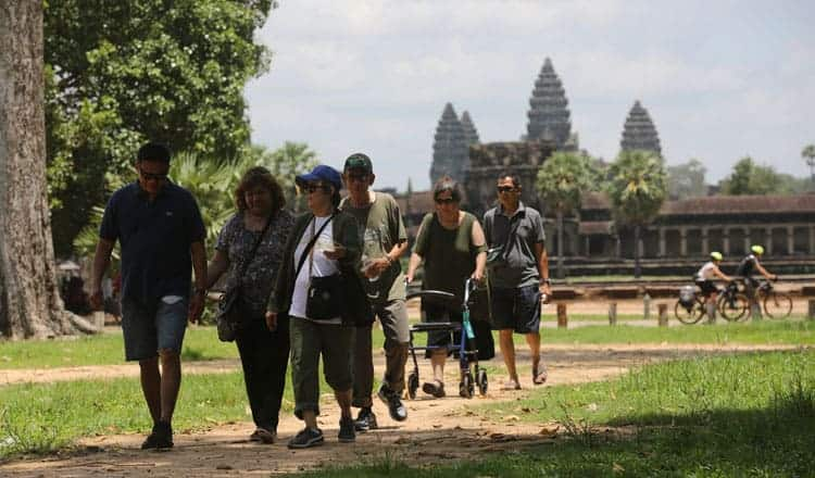 Tourism in Angkor. Source: Khmer Times 20191002