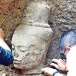 Bodhisattva statue unearthed