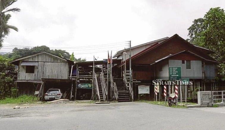 The Annah Rais Longhouse is among the last few traditional Bidayuh longhouses in Sarawak. PIX BY MOHD RADZI BUJANG. Source: New Straits Times, 20191106