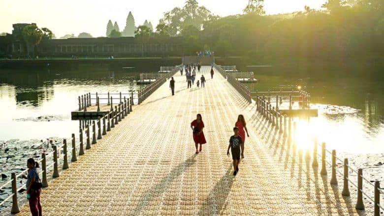 Angkor Wat temporary bridge. Source: Phnom Penh Post 20191114